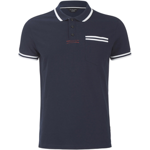 Jack & Jones Men's Core Zet Tipped Polo Shirt - Navy Blazer
