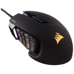 Corsair Gaming SCIMITAR Multi-Colour RGB Backlit Performance 12000 DPI Laser MMO/MOBA Gaming Mouse