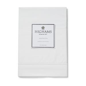 Highams 100% Egyptian Cotton Pillowcase - White