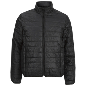 Brave Soul Men's Laing Matt Padded Jacket - Black