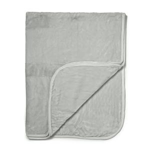 Luxurious Mink Faux Fur Throw - Silver