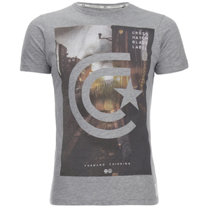 Crosshatch Men's Hamal Graphic T-Shirt - Grey Marl