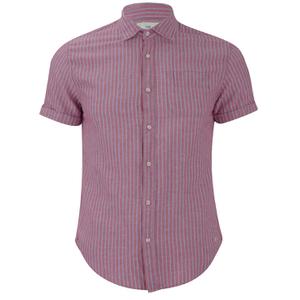 Scotch & Soda Men's Short Sleeved Shirt - Red