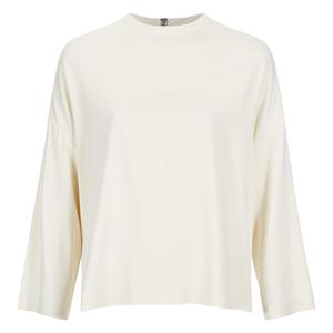 Ganni Women's White Tailor Blouse - Vanilla Ice