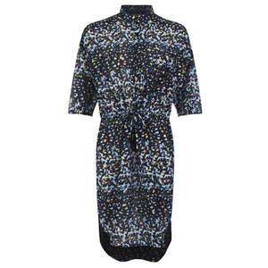 Munthe Women's Ethel Gold Print Tunic Dress - Black