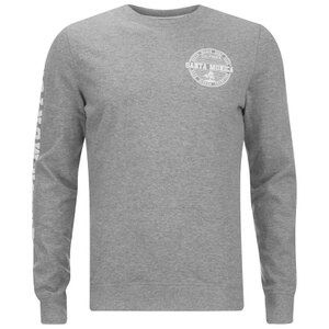 Threadbare Men's Michigan Crew Neck Sweatshirt - Grey