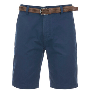 Threadbare Men's Belted Chino Shorts - Navy