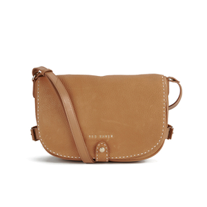 Ted Baker Women's Reagan Stab Stitch Leather Shoulder Bag - Tan