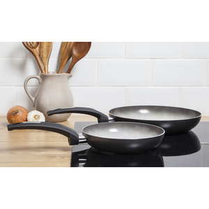 Tower IDT80012 2 Piece Frying Pan Set - Graphite - 20/28cm