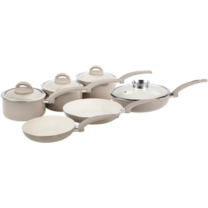 Tower IDT80033 7 Piece Aluminium Pan Set - Latte