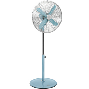 Swan SFA1020BLN Retro Stand Fan - Blue - 16 Inch