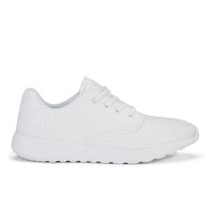 Crosshatch Men's Runner Suede Side Panel Trainers - White