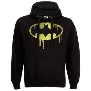 DC Comics Men's Batman Dripping Logo Hoody - Black