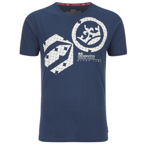 Crosshatch Men's Arowana Print T-Shirt - Insigia Blue