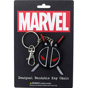 Marvel Deadpool Logo Bendable Key Chain