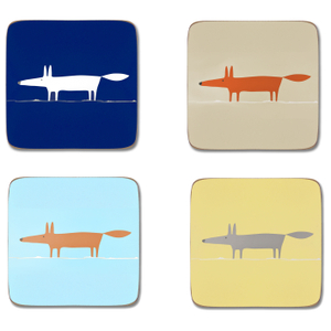 Scion Mr Fox Coasters - Set of 4