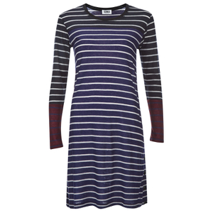 Sonia by Sonia Rykiel Women's Striped Tencel Dress - Indigo/Navy/Brownie/Ecru