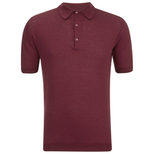 John Smedley Men's Adrian Sea Island Cotton Polo Shirt - Russet Red