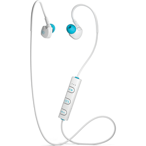 Mixx Memory Fit 1 Bluetooth Sports Earphones Including Mic & In-Line Remote - White