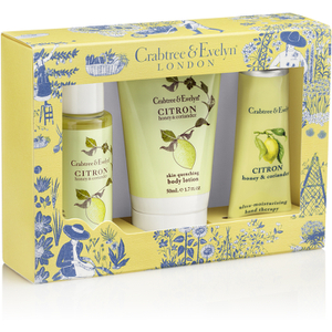 Crabtree & Evelyn Citron, Honey & Coriander Little Luxuries 3 x 50ml