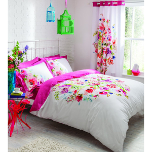 Catherine Lansfield Bright Floral Bedding Set - Multi