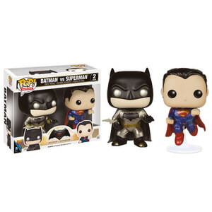 DC Comics Batman vs Superman Metallic Doppelpack Funko Pop! Vinyl Figuren
