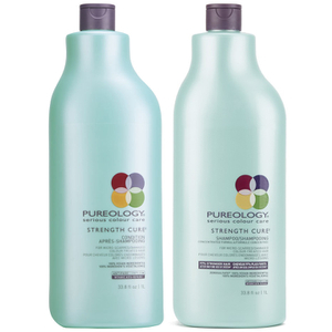 Pureology Strength Cure duo Shampoing (1000ml) et Apres-shampoing (1000ml)