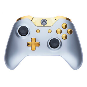 Xbox One Wireless Custom Controller - Gloss Silver & Gold