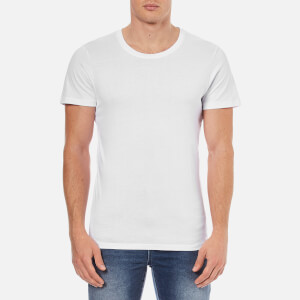 Selected Homme Men's Dave Pima Short Sleeve Cotton T-Shirt - White