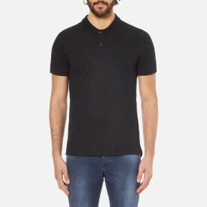 Selected Homme Men's Daro Short Sleeve Cotton Pique Polo Shirt - Black