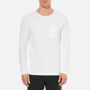 Selected Homme Men's Florence Pima Long Sleeve T-Shirt - Bright White
