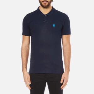 Selected Homme Men's Daro Short Sleeve Cotton Pique Polo Shirt - Peacoat