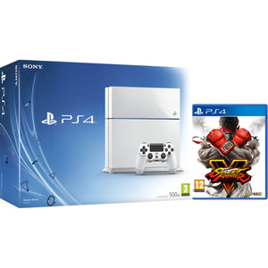 Sony PlayStation 4 500GB White - Includes Street Fighter V