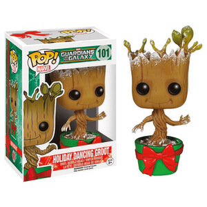 Guardians of the Galaxy Limited Edition Snowy Metallic Holiday Baby Groot Funko Pop! Figur