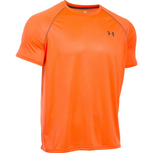 Under Armour Men's Tech Patterned Short Sleeve T-Shirt - Orange