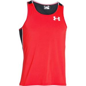 Under Armour Men's CoolSwitch Run Singlet - Red