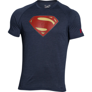Under Armour Men's Transform Yourself Superman T-Shirt - Navy Blue