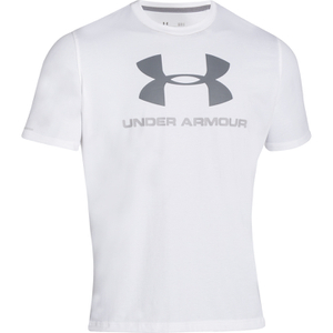 Under Armour Men's Sportstyle Logo T-Shirt - White/Blue