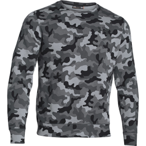 Under Armour Men's Storm Rival Fleece Printed Crew Sweatshirt - Grey