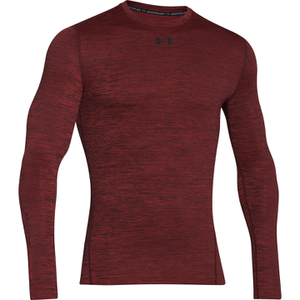 Under Armour Men's ColdGear Armour Twist Compression Crew Top - Red/Black
