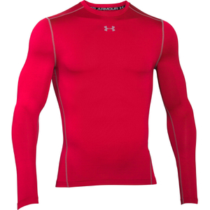 Under Armour Men's ColdGear Armour Compression Crew Top - Red