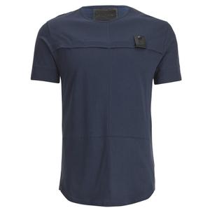 4Bidden Men's Longline Aim T-Shirt - Navy