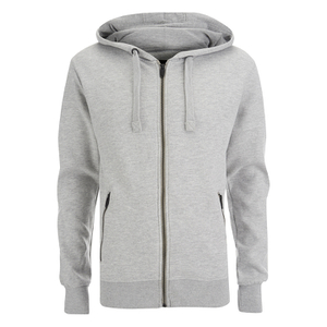 Smith & Jones Men's Palazzo Zip Through Hoody - Light Grey Marl