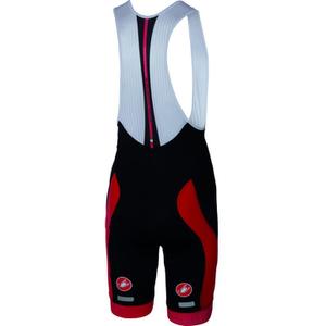 Castelli Velocissimo Bib Shorts - Black/Red