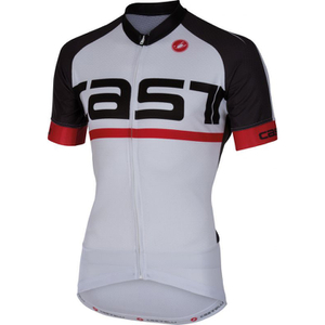 Castelli Meta Short Sleeve Jersey - White/Black