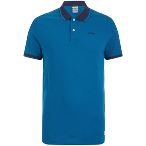 Jack & Jones Men's Originals Tipping Polo Shirt - Mykonos Blue