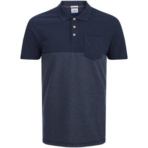 Jack & Jones Men's Originals Spark 2 Tone Polo Shirt - Navy Blazer