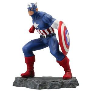 SeDi Marvel Civil War Captain America 9 Inch Statue