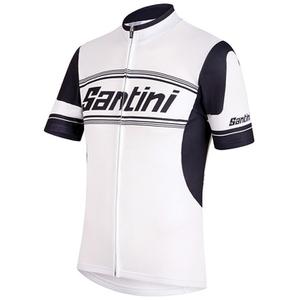 Santini Tau Short Sleeve Jersey - White