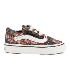 Vans Toddler's Old Skool Zip Trainers - Moody Floral/Black/True White